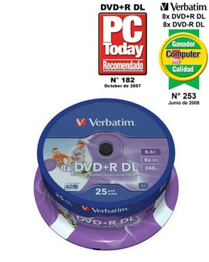 Verbatim DVD+R (8x) Double Layer 8.5GB 25шт. Шпиндель